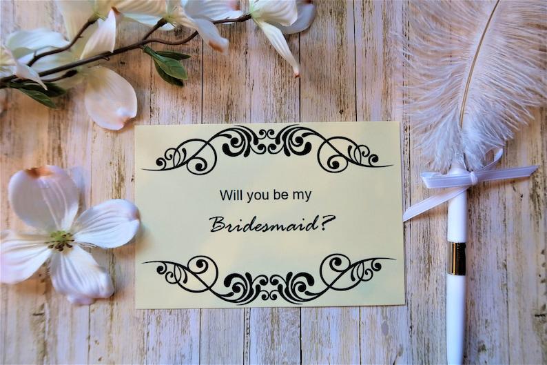 Flat card Will you be my bridesmaid card Bridesmaid proposal Bridesmaid proposal Card Will you be  proposal card