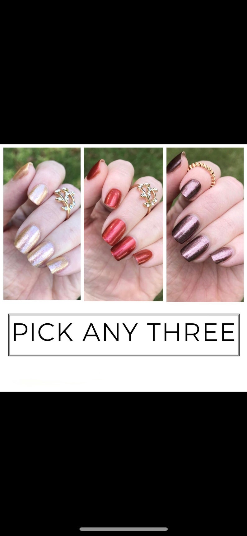 Create Your Own Trio Indie Nail Polish Choose Your Nail | Etsy