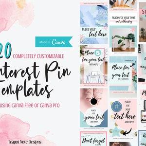 Pinterest Social Media Templates Etsy