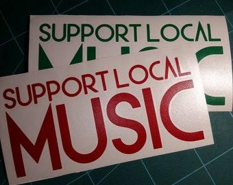 Support Local Music Sticker 70b8952125a6