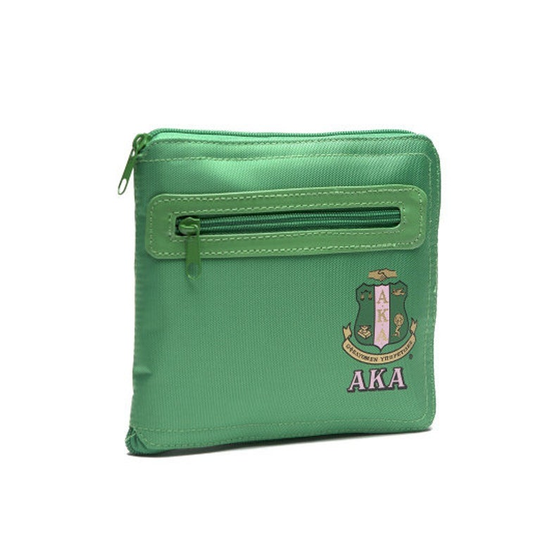 Alpha Kappa Alpha Sorority Green Nylon Go Bag