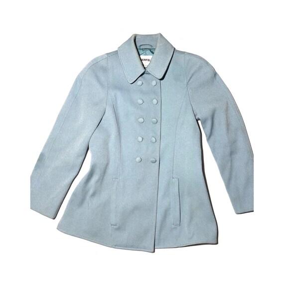 Lagerfeld Powder Blue Princess Sleve Coat