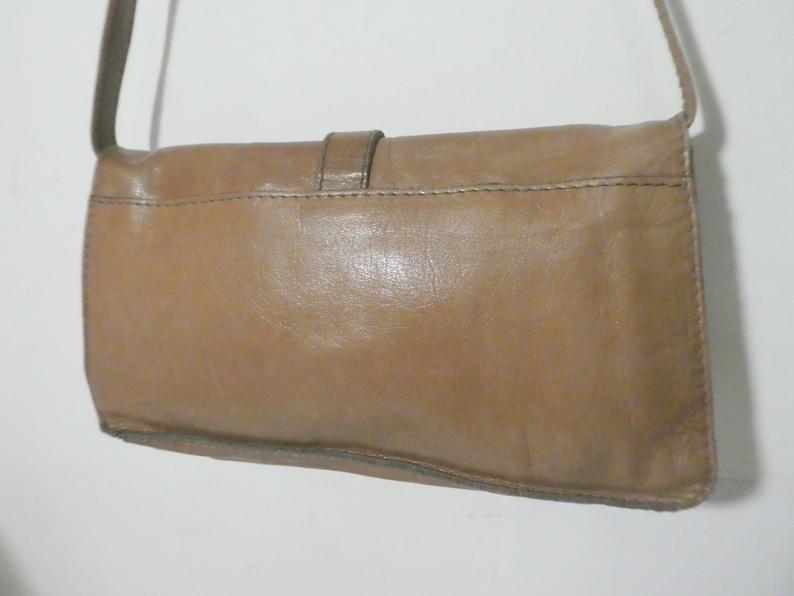 Vintage shoulder bag soft leather clutch