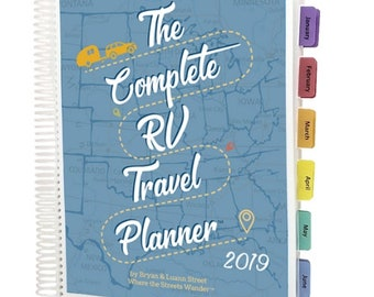 rv travel planner spiral bound travel journal camping notebook road trip planner gift for rversgift for campers adventure gift
