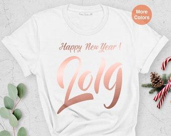 b3d5480b 2019 Shirt, Happy New Year Shirt, Hello 2019, New Year t-shirt, 2019 Happy  New Year, Cheers Shirt, Funny T-shirt, Unisex shirt, Graphic Tee