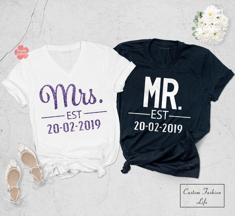 4d7e4fcc Mr and Mrs Shirt Couple Matching Shirts Couple Shirts | Etsy