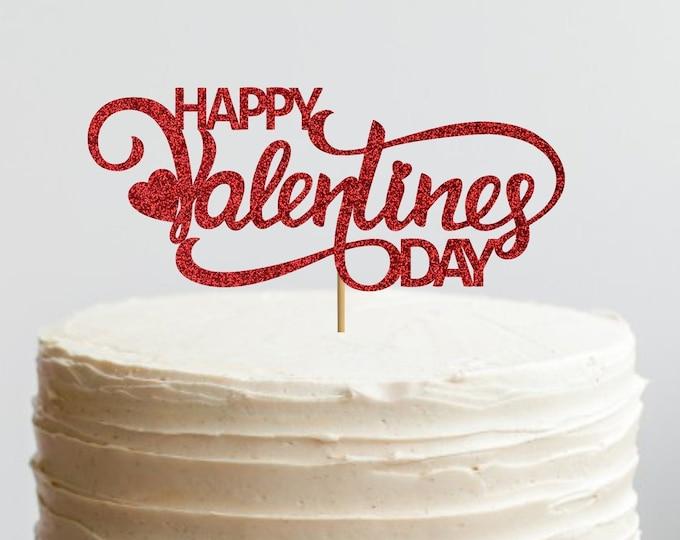 Happy Valentines Day Cake Topper,  Valentine's Day Theme, Valentine's Day Cake Topper, Cupid