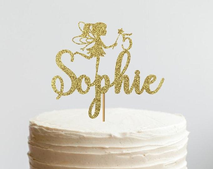 Fairy Cake Topper, Fairy Birthday Theme, Glitter Cake Topper, Fairy party, Fairy Age