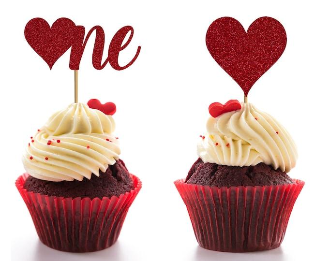 First Birthday Valentine's Day Theme, Valentine's Birthday Cupcake topper, Little Valentine Birthday Party, Valentine's Day Birthday