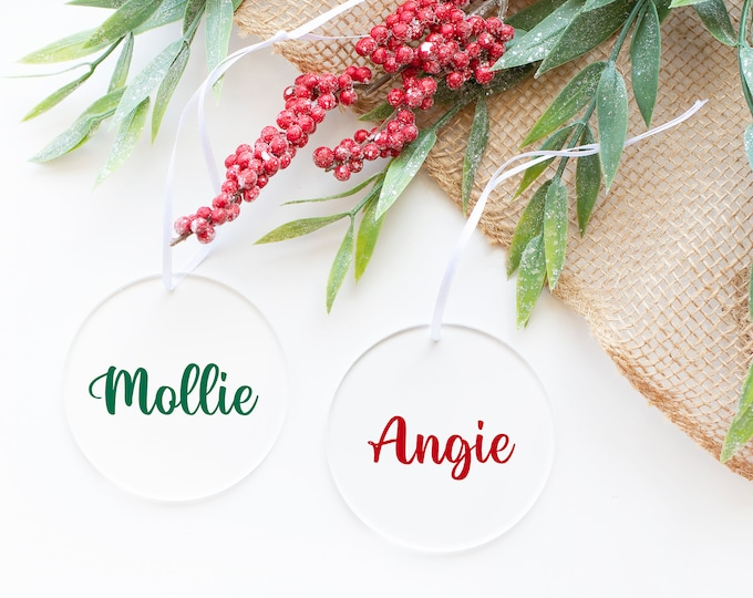 Personalized Christmas Bauble Decorations with Custom Name, Custom Christmas Ornament, Personalized Christmas Gift
