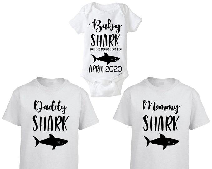 BABY SHARK doo doo doo doo doo doo Couples and Baby Shirts and Onesie