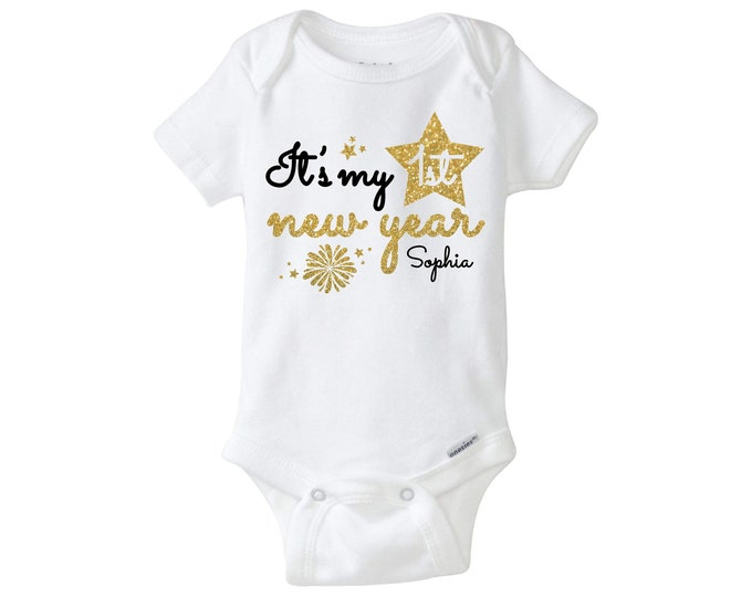 Baby First New Year Outfit Baby First New Year Bodysuit Baby Onesie New Year My First New Year Baby First New Year Outfit
