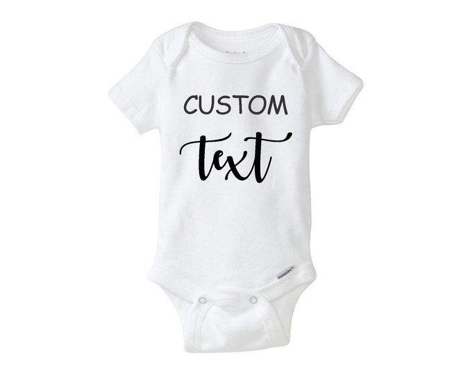Custom Onesie Bodysuit, personalized baby bodysuit,  Perfect for announcement, baby shower, gender reveal.