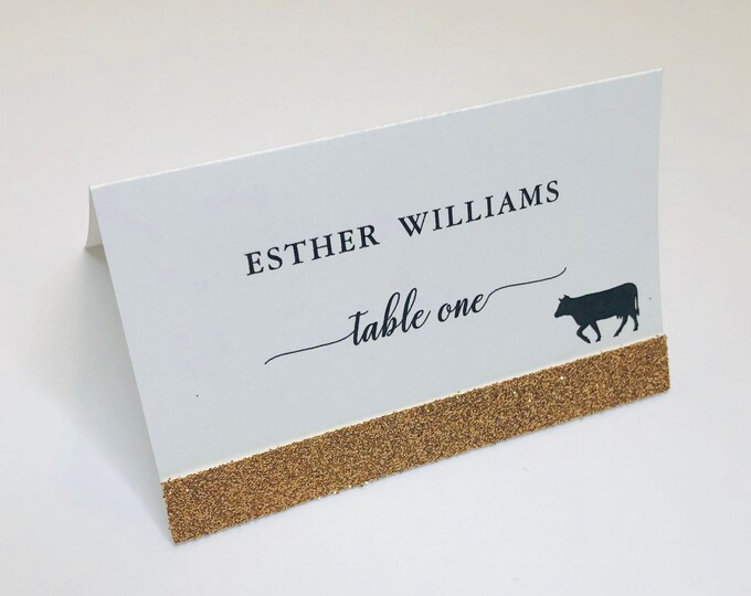 Glitter Wedding Place Card, Meal Choice, Wedding Custom, Customize Place Cards, Names Guest, Place Cards with Meal Choice, Seating Cards