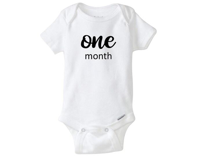 Monthly Milestone Set of 12 Onesies Bodysuits, One Month Baby Bodysuit, Baby Shower Gift, Baby Shower, Baby Milestone Bodysuit.