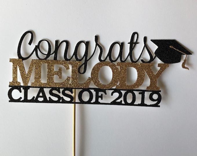 Graduation 2021 Cake Topper, Custom Congrats Personalized Grad, Class of 2021, Prom Party 2021