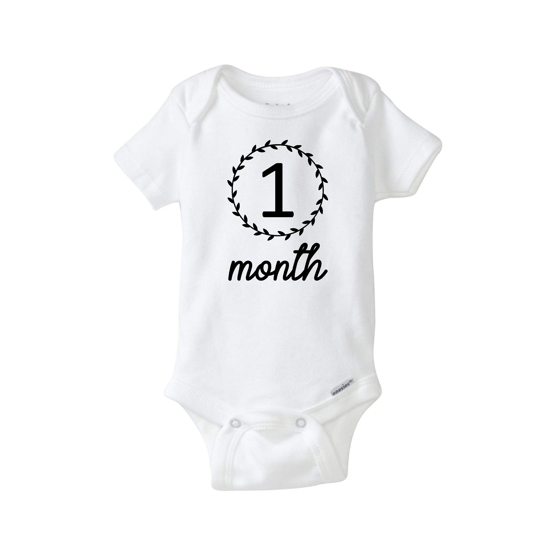 Custom Onesie Set Twelve Month Bodysuit Set Onesie Set Milestone Bodysuits Baby Monthly Growth Onesies Custom Bodysuits