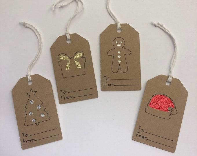 Christmas Gift Tags, Packs of Custom Gift Tags, Christmas Gift Wrapping,  Christmas Tag.