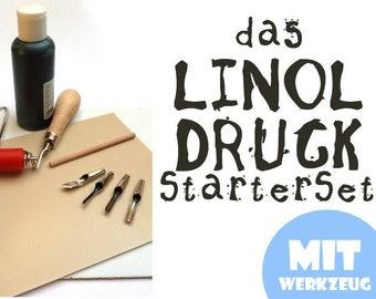 LINOLDRUCK Starter Set including Tool & Color