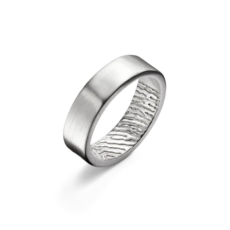Wedding Rings  Custom Silver Memorial ring Mother/'s Day Gifts Fathers Secret Fingerprint Wedding Ring Personalised Fingerprint Band