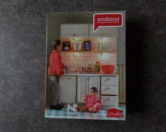 Lundby Småland dishwasher with kitchen cabinet set (1:18) new in the box