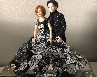 A costume set for Heidi Ott couple (1:12) Dolls not included