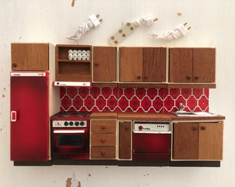 Lundby Complete kitchen with lights (1:18)