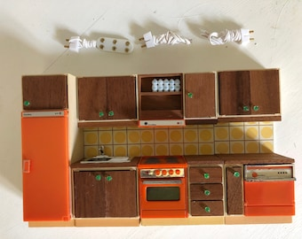 Lundby Continental Kitchen with lights (1:18)
