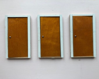 3 Lundby doors made from wood (1:18)