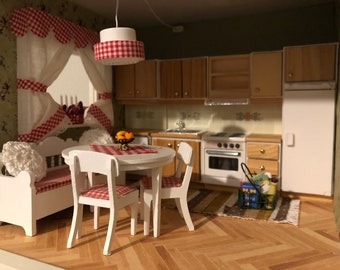 Lundby Kitchen set with lights (1:18)