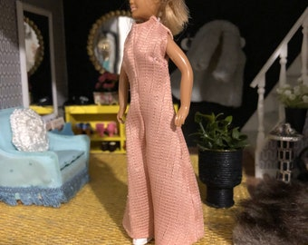 A pink jumpsuit for Lundby doll (1:18 doll not included)