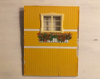 Lundby a wall with 1 window for Göteborg house (1:18)