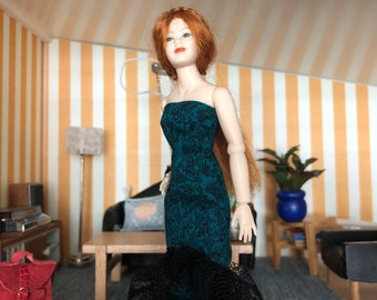 A dress for Heidi Ott lady (1:12) Doll not included