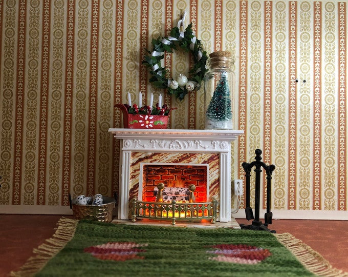 Featured listing image: Lundby fireplace with Christmas decorations (1:18)