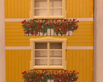 Lundby a wall with 2 windows for Göteborg house (1:18)
