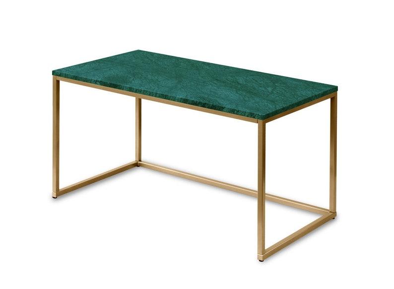 Iduro Ein Schreibtisch Mit Marmorplatte Auf Bestellung Etsy