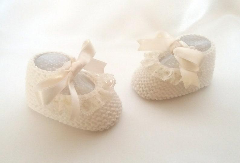 958e0dab7 Patucos bebe niña para bautizo Zapatos para bebé niña en