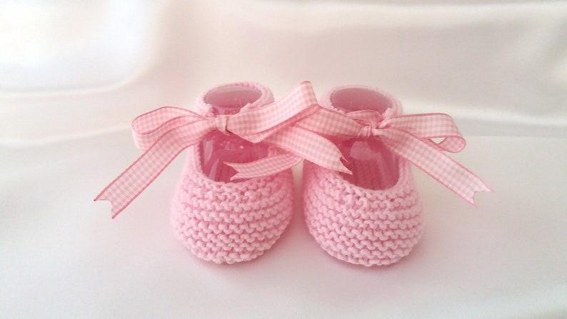 Patucos Bebé Niña Zapatos Bebé niña con lazo vichy  72fd6631309