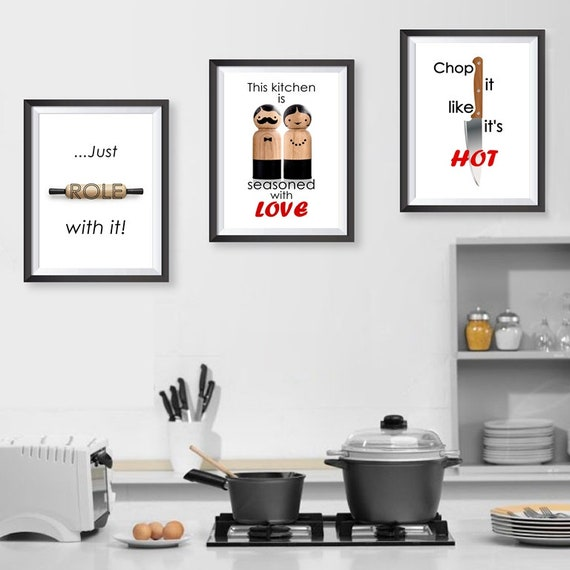 Canvas Print Home Kitchen Love Quotes Season Words Poster Wall Sticker Art  Decor Wall Hanging Canvas Textured Card Phrases Words Chop