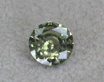0.61 carats   Natural Green Sapphire   5.24 x 2.85 mm   Round Shape   Loose Gemstone