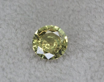 0.42 carats   Natural Yellow Sapphire   4.60 x 2.46 mm   Round Shape   Loose Gemstone