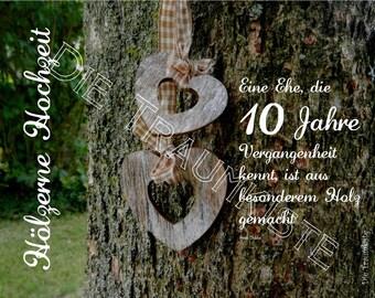 Holzerne Hochzeit Karteherz Weiss Holz Td0045 Etsy