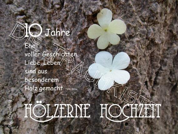 Holzerne Hochzeit Karte Bluten Baum 1 Td0065