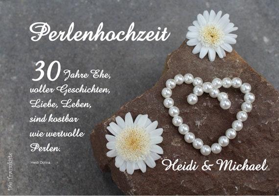 Perlenhochzeit Karte Perlen Stein 1 Td0061
