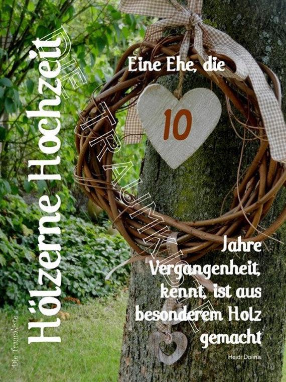 Holzerne Hochzeit Karte Herz Kranz Td0046 Etsy