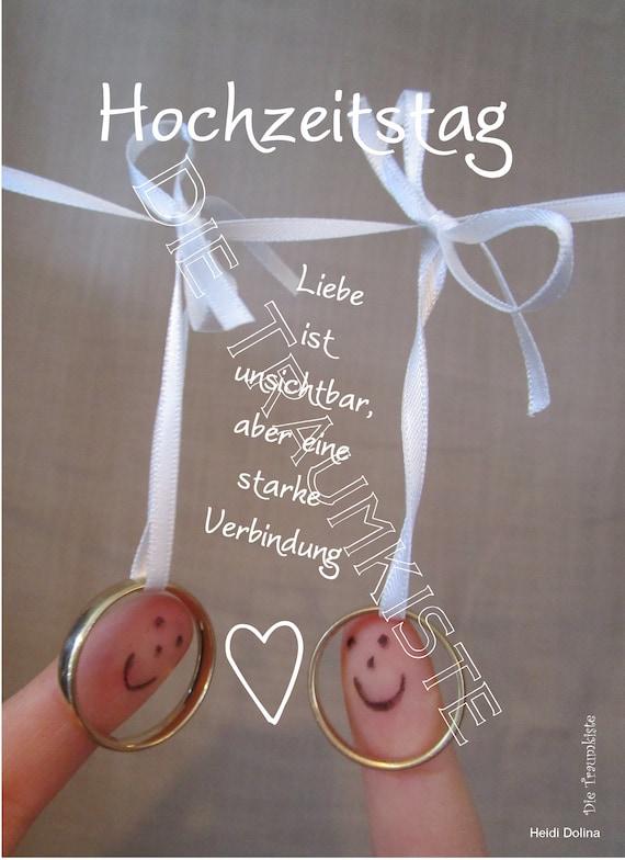 Hochzeitstag Karte Fingerpaar 1 Td0084 Etsy