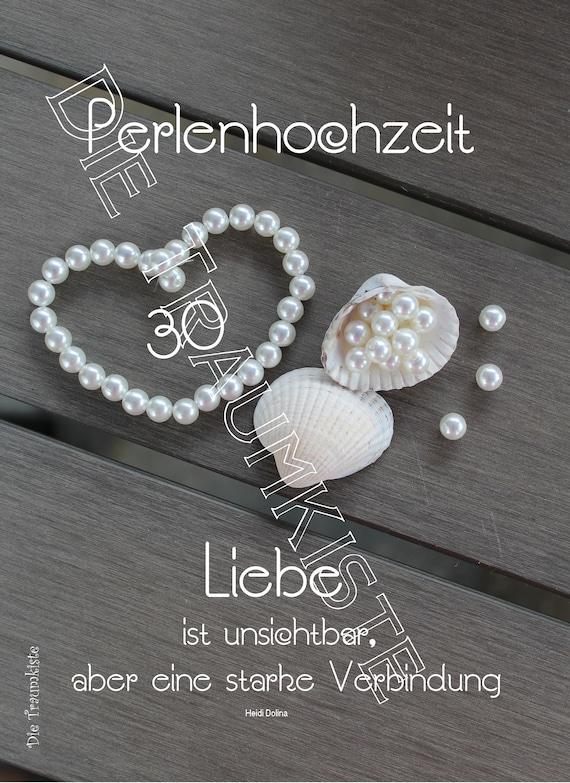 Perlenhochzeit Karte Perlen Muscheln 27 TD27 | Etsy