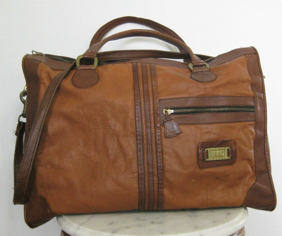 1970s Land Leather Luggage Duffle Briefcase Should