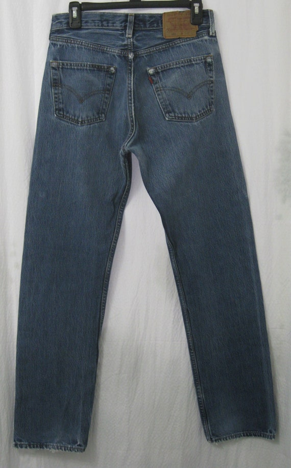 1990s LEVIS 501 Red Tab Jeans 30X32 USA Made Ligh… - image 1