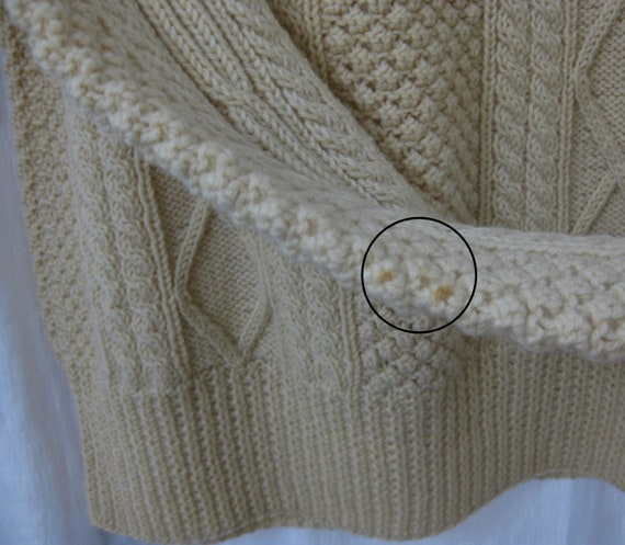 1950s Donegal Hand Knit Fishermans Irish Wool Swe… - image 4